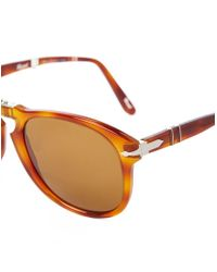 Persol - Foldable Crystal Lens Sunglasses Po0714 Brown for Men - Lyst