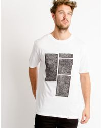 Cheap Monday - Fantastic T-shirt Dictionary White for Men - Lyst