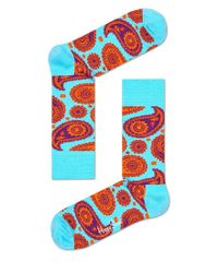Happy Socks | Brown Paisley Blue for Men | Lyst