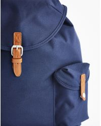 The Idle Man - Blue Vintage Rucksack Navy for Men - Lyst
