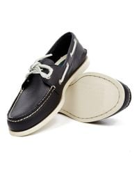 Sperry Top-Sider - Black Classic Leather Boat Shoe Navy for Men - Lyst
