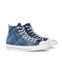 Converse | Chuck Taylor All Star High Top Denim Woven Blue for Men | Lyst