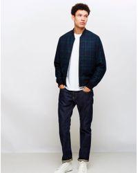 Edwin | Multicolor Baller Bomber Jacket Heavy Flanel Wool Blend Tartan for Men | Lyst