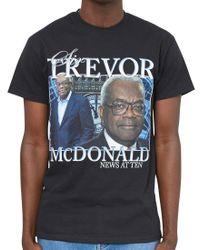 Homage Tees - Black Trevor Mcdonald T-shirt for Men - Lyst