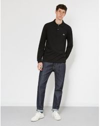 Lacoste - Long Sleeve Polo Shirt Black for Men - Lyst
