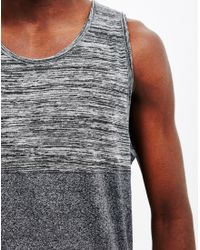The Idle Man - Gray Cut And Sew Vest Grey for Men - Lyst