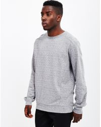 The Idle Man - Gray Panelled Sweatshirt Grey for Men - Lyst