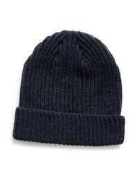 The Idle Man - Blue Small Fisherman Beanie Navy for Men - Lyst
