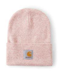 Carhartt WIP - Acrylic Watch Hat Heather Pink for Men - Lyst