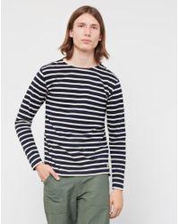 Armor Lux - Blue Mariniere Heritage Sweatshirt Navy for Men - Lyst