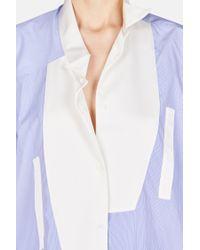 Loewe - Blue Asymmetric Oversized Button Up Shirt - Lyst