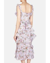 Brock Collection - Multicolor Darwin Corseted Dress With Ruffles - Lyst