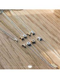 Orelia - Metallic Necklace Initial L - Lyst