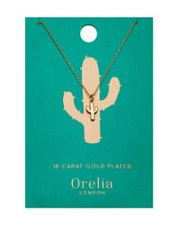 Orelia | Metallic Cactus Ditsy Necklace | Lyst