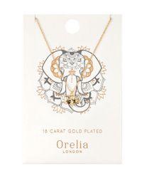 Orelia - Metallic Spiritual Elephant Ditsy Necklace - Lyst