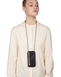 Lemaire - Multicolor Vegetable Tanned Leather Neck Bag - Lyst