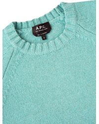 A.P.C. - Blue Stirling Sweater - Lyst