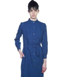 A.P.C. - Blue Shirt Dress - Lyst