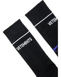 Vetements - Black Lurex Socks for Men - Lyst