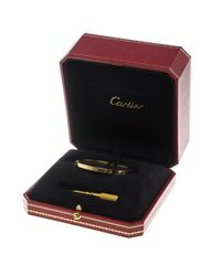 Cartier - Metallic Love 18k Yellow Gold Sm Bracelet 16 - Lyst