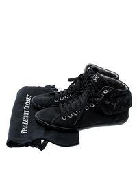 Louis Vuitton - Black Monogram Fabric & Suede Brea Sneaker Boots - Lyst
