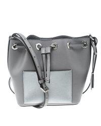 b7372ff6c090 MICHAEL Michael Kors. Women s Gray Leather Small Greenwich Drawstring  Bucket Bag