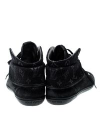 Louis Vuitton - Black Monogram Fabric & Suede Brea Sneaker Boots - Lyst