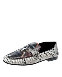 123bddde1cd Isabel Marant. Women s Python Embossed Leather Fezzy Penny Loafers