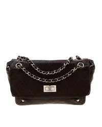 Chanel Brown Quilted Caviar Leather Reissue Shoulder Bag