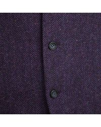 Dior - Purple Boutique Monsieur Vintage Chevron Pattern Wool Waistcoat And Blazer Set Xl for Men - Lyst