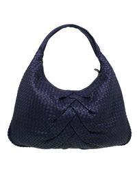 Bottega Veneta. Women s Purple Intrecciato Leather Maxi Pleated Veneta Hobo  Bag 930189c4a8737