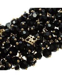 CH by Carolina Herrera - Black Beads Gold Tone Wide Bracelet 15cm - Lyst