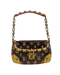 45dbd31eedc8 Louis Vuitton. Women s Brown  yellow Velvet Limited Edition Trompe L oeil  ...