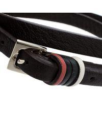 CH by Carolina Herrera - Brown Leather Gold Tone Wrap Bracelet - Lyst