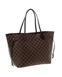Louis Vuitton Brown Damier Ebene Canvas Neverfull Mm Bag