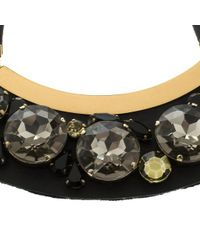 Marni - Black Mercurio Strass Crystal Embellished Leather Collar Necklace - Lyst