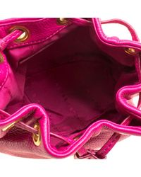 Marc By Marc Jacobs - Pink Hot Leather Mini Too Hot To Handle Drawstring Bucket Crossbody Bag - Lyst