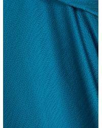 Roland Mouret - Blue Lathbury Hammered Satin Midi Skirt - Lyst