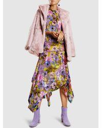 Preen By Thornton Bregazzi - Multicolor Clara Floral-print Silk-devoré Midi Dress - Lyst