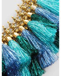 Rosantica - Blue Nuova Orchidea Gold-tone Tassel Necklace - Lyst