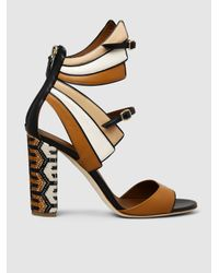 Malone Souliers | Multicolor Carinne Embroidered Leather Sandals | Lyst