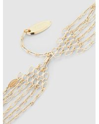 Lanvin - Metallic Gold-plated Multi-strand Crystal Necklace - Lyst