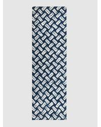 Eskandar - Blue Shibori Tie-dye Silk Scarf - Lyst