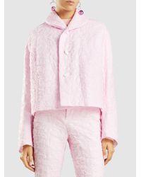 Marni | Pink Cropped Matelassé Jacket | Lyst
