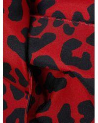 N°21 - Multicolor Knot Leopard-print Satin Clutch - Lyst