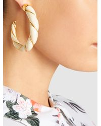 Aurelie Bidermann - Metallic Diana Gold-plated Resin Hoop Earrings - Lyst