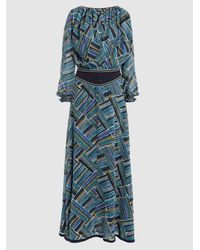 Talitha - Blue Rosa Printed Silk-georgette Maxi Dress - Lyst
