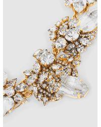 Erickson Beamon - Metallic Floral Crystal Necklace - Lyst