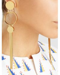 Lanvin - Multicolor Long Earrings With Clips - Lyst