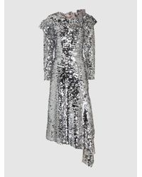 Preen By Thornton Bregazzi - Metallic Jodie Sequinned Off-the-shoulder Midi Dress - Lyst